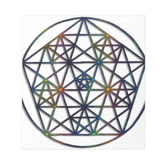 Abundance Sacred Geometry Fractal of Life Notepad