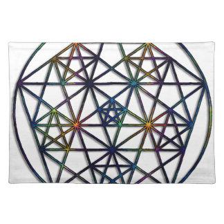 Abundance Sacred Geometry Fractal of Life Placemat