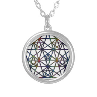 Abundance Sacred Geometry Fractal of Life Silver Plated Necklace