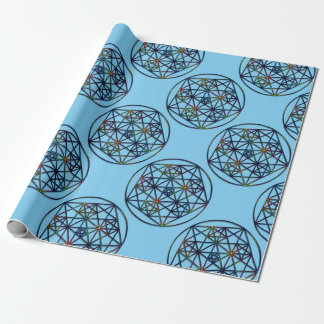 Abundance Sacred Geometry Fractal of Life Wrapping Paper