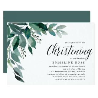 Abundant Foliage | Christening Invitation