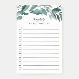 Abundant Foliage   Personalized To Do List Post-it Notes