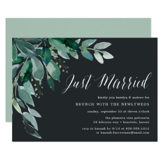 Abundant Foliage | Post Wedding Brunch Invitation