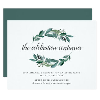Abundant Foliage Wedding After Party Invitation