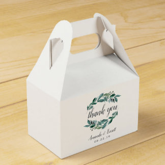 Abundant Foliage Wedding Favour Box