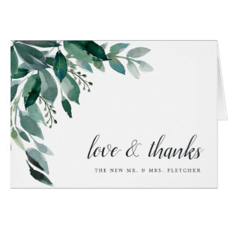 Abundant Foliage Wedding Thank You Card