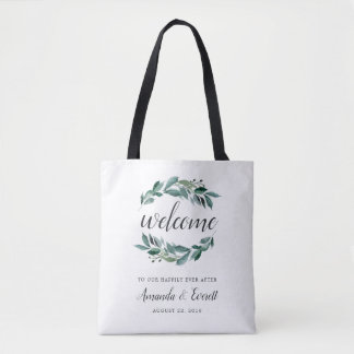 Abundant Foliage Wedding Welcome Tote Bag