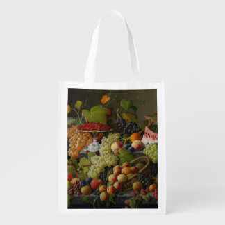 Abundant Fruit, 1858 (oil on canvas) Reusable Grocery Bag