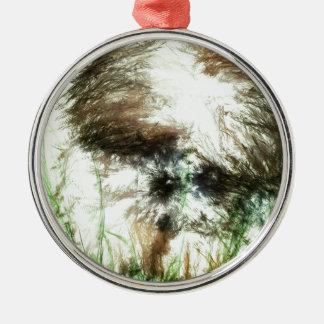 Abundant Greens2maya Metal Ornament
