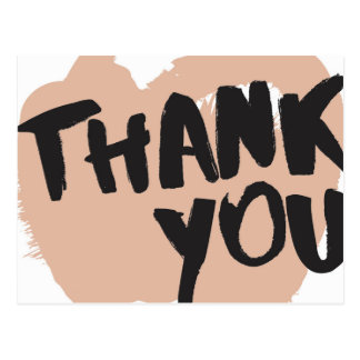 Abys Brush Lettering Thank You Postcard Mailer