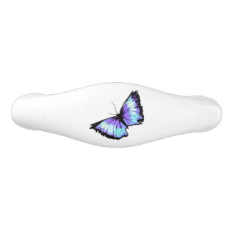 """Abyss"" (Blue Butterfly) Ceramic Drawer Pull"