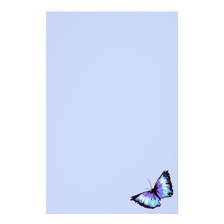 """Abyss"" (Blue Butterfly) Stationery"