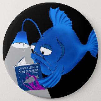 Abyssal fish 6 cm round badge