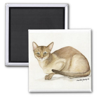 """Abyssinian Cat"" Art Reproduction Magnet"