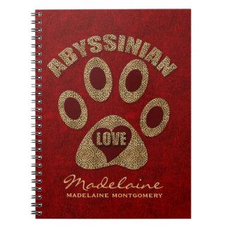 Abyssinian Cat Breed | Custom Red Cheetah Notebooks