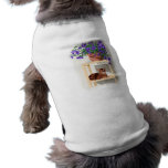 Abyssinian cat with flowers sleeveless dog shirt