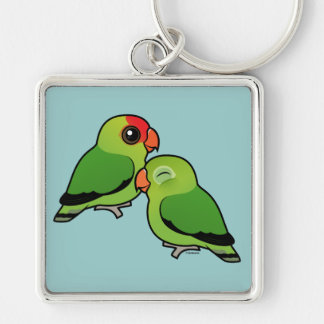 Abyssinian Lovebird Adorable Pair Key Ring