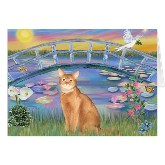 Abyssinian (red 18) - Sunrise Lilies Card