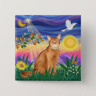 Abyssinian (red 18) - Twilight (horiz) 15 Cm Square Badge