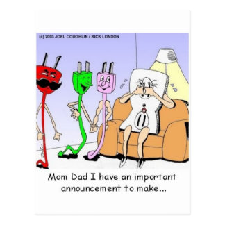 AC/DC Wiring Funny Relationship Gay/Lesbian Gifts Postcard