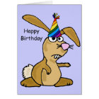 AC- Funny Rabbit Birthday Card