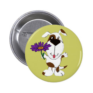 AC- Happy Dog and Daisy Button
