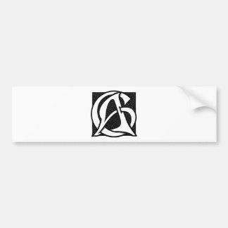 AC Monogram Bumper Sticker