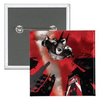 AC Poster - Batman flying 15 Cm Square Badge
