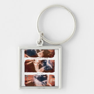 AC Poster - Everything At Stake Silver-Colored Square Key Ring
