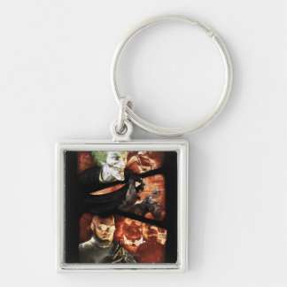 AC Poster - You're Not Safe Here 2 Silver-Colored Square Key Ring