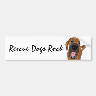 AC- Rescue Dogs Rock Bumper Sticker