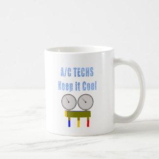 AC Techs Keep it Cool.png Basic White Mug