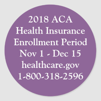 ACA Enrollment Stickers - Private Jet Purple