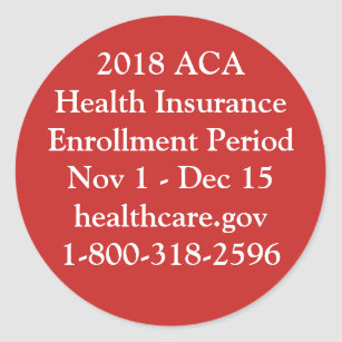 ACA Enrolment Stickers - Red Hot Resistance