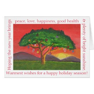 Acacia Christmas Sunset Card