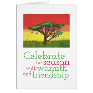 Acacia Christmas Tree Card