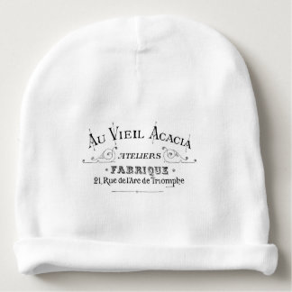 Acacia Fabric French Typograpy  design Baby Beanie