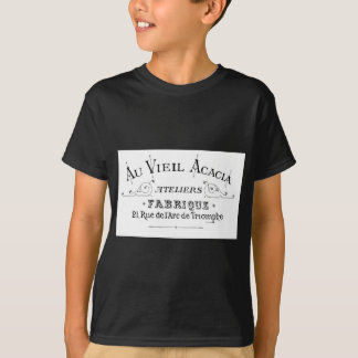Acacia Fabric French Typograpy  design T-Shirt