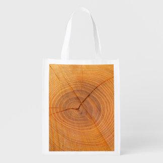 Acacia Tree Cross Section Reusable Bag