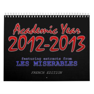 Academic Calendar 2012-2013, French