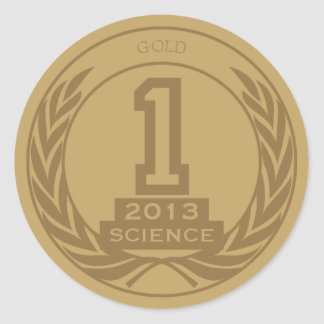 Academic Gold Medal Round Sticker