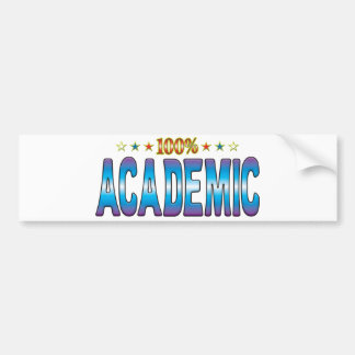 Academic Star Tag v2 Bumper Stickers