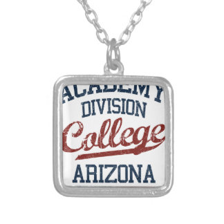 academy division college silver plated necklace