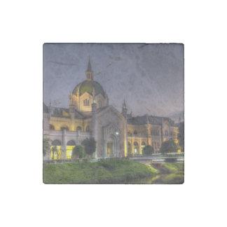Academy of Fine Arts, Sarajevo, Bosnia and Herzego Stone Magnet