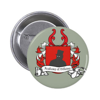 Academy of Villainy coat of arms 6 Cm Round Badge