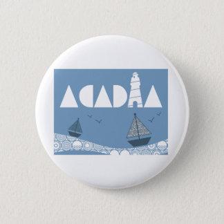 Acadia 6 Cm Round Badge
