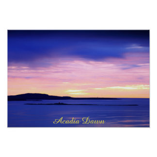 Acadia Dawn Poster
