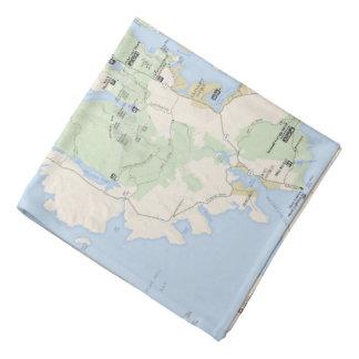 Acadia map bandana