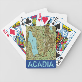 ACADIA MAP BICYCLE PLAYING CARDS