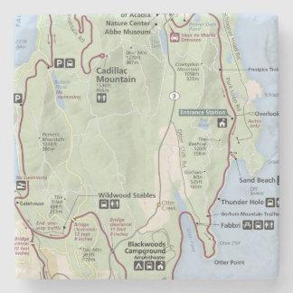 Acadia map coaster stone coaster